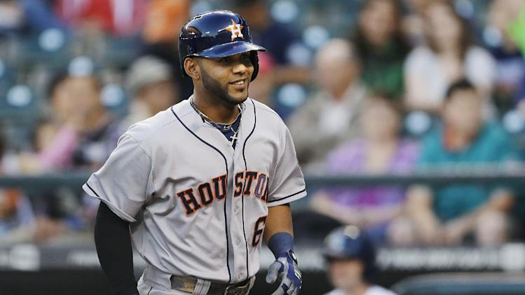 Villar homers on 1st pitch, Astros rout M's 13-2