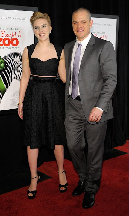 We Bought a zoo 2011 NY Premiere Scarlett Johansson Matt Damon