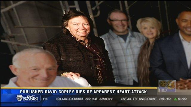 Publisher David Copley dies of apparent heart attack