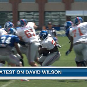 New York Giants' training camp: Latest on running back David Wilson