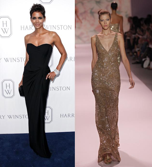 Halle Berry and Monique Lhuillier