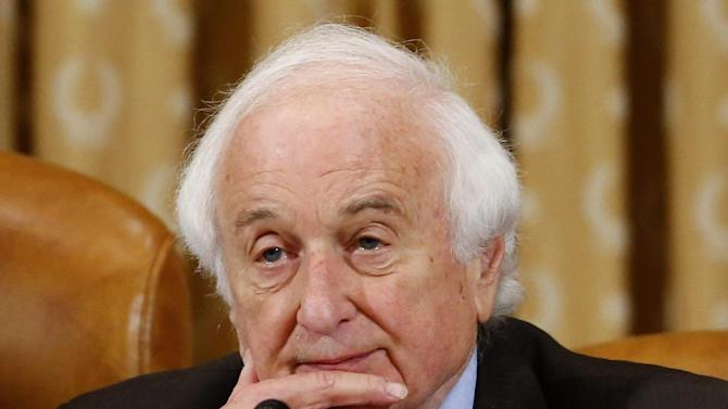 """Rep. Sander Levin, D-Mich., ranking Democrat on the House Ways and Means Committee listens on Capitol Hill in Washington, Friday, May 17, 2013. Political scandals have strange ways of causing collateral damage, and Republicans are hoping the furor over federal tax enforcers singling out conservative groups will ensnare their biggest target: President Barack Obama's health care law. But no one appears to have connected the factual dots yet, and it's unclear whether they will. Levin, the ranking Democrat on the Ways and Means Committee, which oversees the IRS says """"There really isn't a tie,This is another effort by the Republicans to essentially try to score political points.""""  (AP Photo/Charles Dharapak)"""