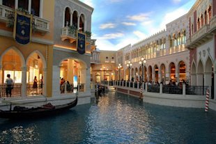 The retailers in the Venetian line a mock Italian canal. (Marit & Toomas Hinnosaar / Flickr)