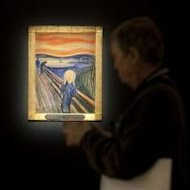 Edvard Munch&#39;s &#39;The Scream&#39; at Sotheby&#39;s on April 27, 2012 in New York