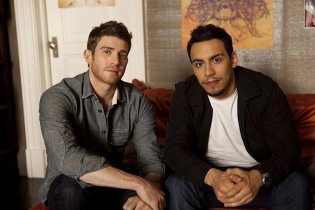 "Bryan Greenberg as Ben and Victor Rasuk as Cam in ""How to Make It in America."""