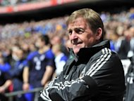 Liverpool manager Kenny Dalglish during an FA Cup match on April 14. Liverpool will bid to put a positive gloss on a lacklustre season on Saturday as they attempt to seal a rare domestic double against bitter rivals Chelsea in the FA Cup final