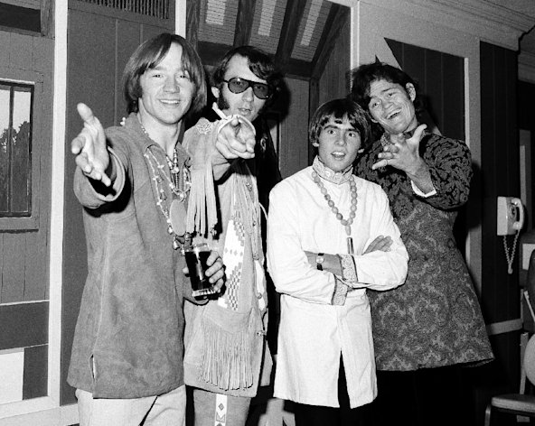 FILE - This July 6, 1967 file photo shows the musical group, The Monkees, from left, Peter Tork, Mike Nesmith, David Jones, and Micky Dolenz at a news conference at the Warwick Hotel in New York.The Monkees will perform its first live shows since its star Davy Jones died in February. Michael Nesmith, Micky Dolenz, and Peter Tork announced Wednesday, Aug. 8, 2012, that the group will launch a 12-date U.S. tour in November. Jones died of a heart attack on Feb. 29. The group starred in its own NBC television show in 1966 as a made-for-TV band seeking to capitalize on Beatlemania sweeping the world. Jones rocketed to the top of the music charts with The Monkees, captivating audiences with hits including &quot;Daydream Believer&quot; and &quot;I&#39;m a Believer.&quot;The tour kicks off Nov. 8 in Escondido, Calif. It wraps on Dec. 2 in New York. It will highlight Jones in the show&#39;s multimedia content. (AP Photo/Ray Howard, file)