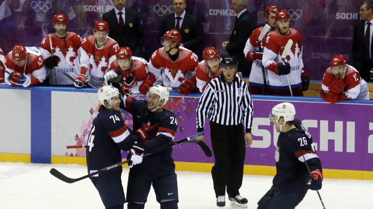 Oshie's 4 shootout goals lead US past Russia 3-2