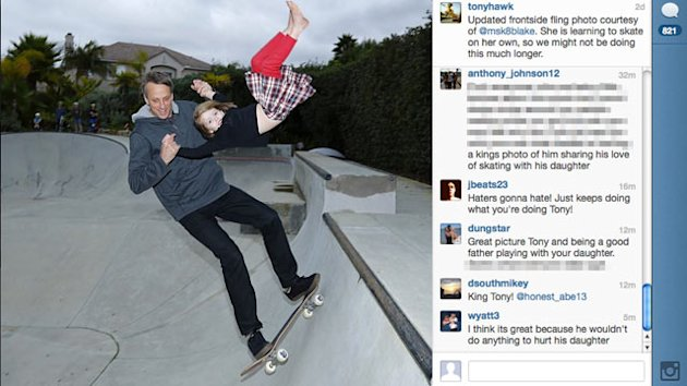 Tony Hawk Under Fire for Photo (ABC News)