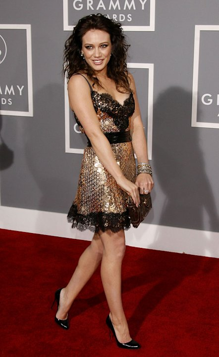Hilary Duff at The 49th Annual Grammy Awards.
