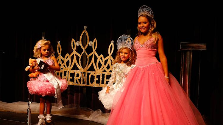 "Various contestants at the Southern Celebrity Beauty Pageant in Charleston, West Virginia as seen in ""Toddlers & Tiaras."""