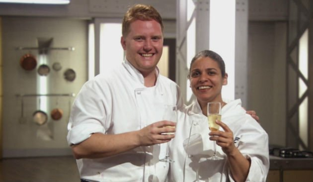 MasterChef... title winners Keri and Anton (Copyright: BBC)