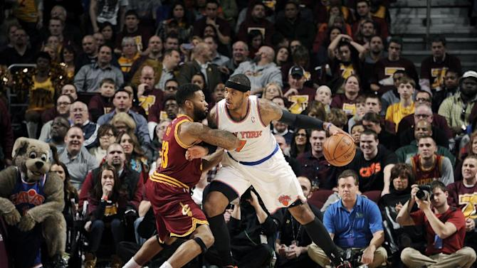 Anthony's 26 points lead Knicks past Cavs, 107-97