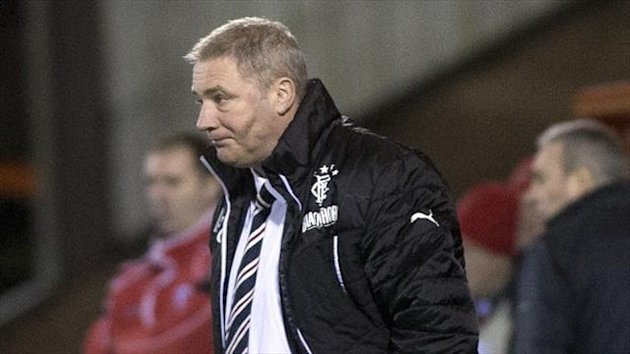 Ally McCoist's side are looking for their third away win in a week at Stenhousemuir