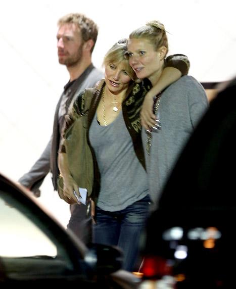 PICTURE: Gwyneth Paltrow, New BFF Cameron Diaz Eat Sushi With Chris Martin