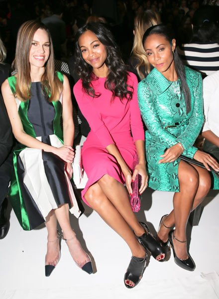 Hilary Swank, Zoe Saldana and Jada Pinkett Smith Michael Kors Image  Rex