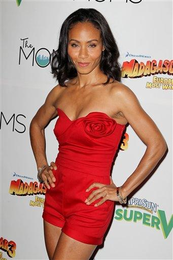 """This image released by Starpix shows actress Jada Pinkett Smith at a special screening of """"Madagascar 3: Europe's Most Wanted,"""" hosted by Capri Sun Super V and The MOMS at the Paramount Pictures Scree"""