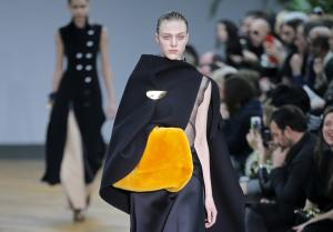 A model wears a creation for Celine's ready-to-wear …