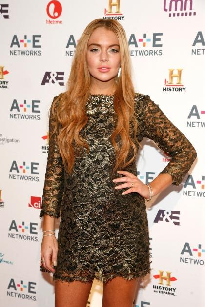 Lindsay Lohan steps out at the A+E Networks 2012 Upfront at Lincoln Center in New York City on May 9, 2012  -- Getty Premium