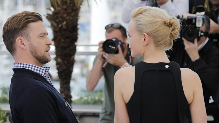 From left, actors Justin Timberlake and Carey Mulligan pose for photographers during a photo call for the film Inside Llewyn Davis at the 66th international film festival, in Cannes, southern France, Sunday, May 19, 2013. (AP Photo/Lionel Cironneau)