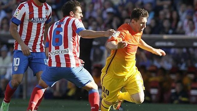 Barcelona's Lionel Messi against Atletico Madrid (Reuters)