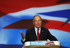 New York City Mayor Michael Bloomberg speaks at the Conservative Party conference in Birmingham