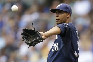 Peralta is slated to pitch Sunday against the Dodgers. (Getty)