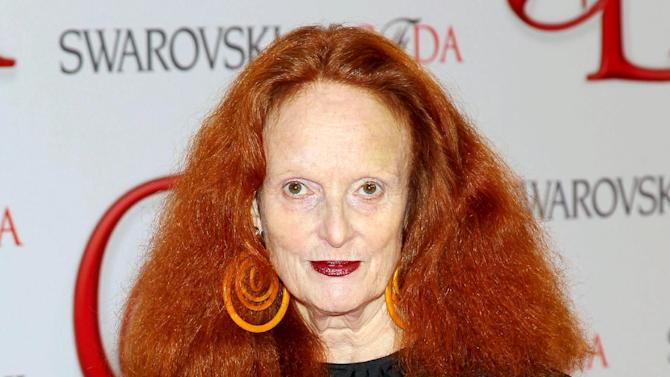 "This June 4, 2012 photo released by Starpix shows Vogue stylist and former model Grace Coddington at the 2012 CFDA Fashion Awards, sponsored by Swarovski, at  Alice Tully Hall in New York. Coddington is the author of a book titled, ""Grace: A Memoir,"" released Nov. 20, 2012 by Random House. (AP Photo/Starpix, Marion Curtis)"