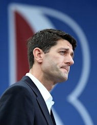 Republican vice presidential candidate Paul Ryan (R-WI) speaks during a campaign rally in Norfolk, Virginia. White House challenger Mitt Romney has unveiled Ryan as his running mate, in a bid to revive his flagging campaign to oust President Barack Obama