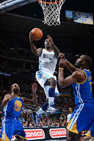 Iguodala scores 29 points, Nuggets top Warriors