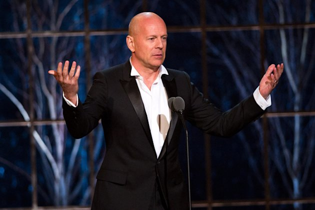 FILE - In this March 26, 2011 photo, Bruce Willis appears onstage at the The Comedy Awards presented by Comedy Central in New York. Willis says hes willing to give away his popular central Idaho ski resort to a nonprofit. The action star has already put his lavish home in nearby Hailey, Idaho, on the real estate market, its listed at $15 million, along with his local bar and nightclub, The Mint, listed at about $4 million. (AP Photo/Charles Sykes)