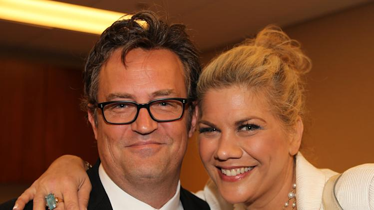 Actors Matthew Perry and Kristen Johnston show their support for Drug Courts by attending the NADCP 19th Annual Conference on Monday, July 15, 2013 at National Harbor in Ft. Washington, MD. (Paul Morigi/AP Images for National Association of Drug Court Professionals)