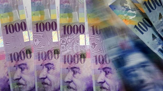 The Swiss franc's recent surge will hit economic growth in the wealthy alpine nation but not as badly as initially feared, says Standard & Poor's