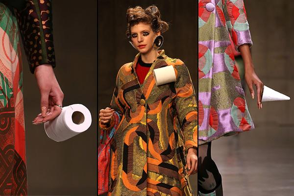 london fashion week, toilet paper
