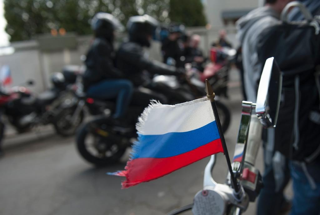 Ten Russian bikers reach German border ahead of WWII rally