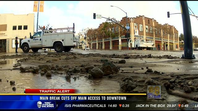 Main break cuts off main access to downtown