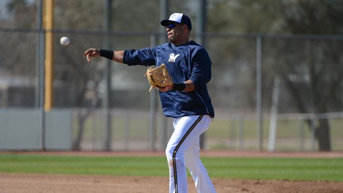 MLB: Milwaukee Brewers-Workout