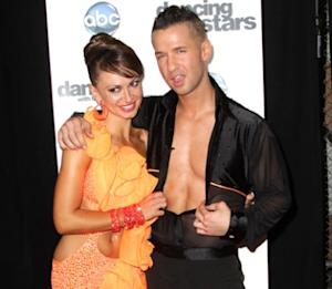 "Karina Smirnoff and Mike Sorrentino attend the premiere of ""Dancing with the Stars"" at CBS Television City in Los Angeles on September 20, 2010 -- Getty Images"