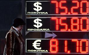 Foreign currency rates against Russia's battered…