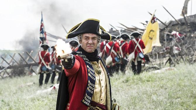 """In this 2014 photo released by the History Channel, Marton Csokas portrays British General Gage in a scene from """"Sons of Liberty,"""" a new miniseries premiering in January 2015 on the History Channel. (AP Photo/History Channel, Ollie Upton)"""
