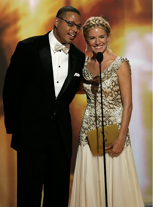 Terrence Howard and Sienna Miller at the 64th annual Golden Globe Awards.