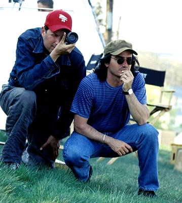 Cinematographer Phedon Papamichael and writer/director Brad Silberling on the set of Touchstone's Moonlight Mile