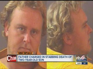 Dad charged in stabbing: 'Please kill me'