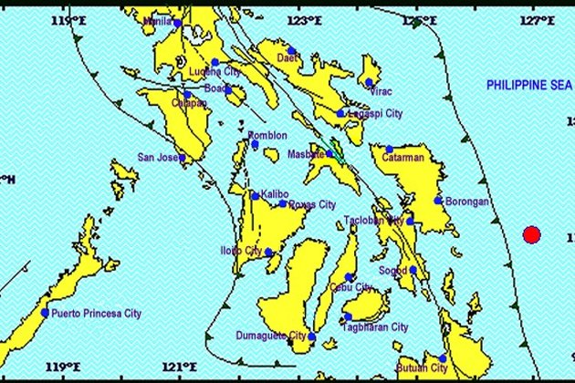 A 5.5 magnitude earthquake hit several areas in Eastern Samar Thursday. (Phivolcs)