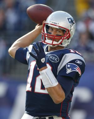 New England Patriots quarterback Tom Brady passes the ball in the first quarter of an NFL football game against the San Diego Chargers in Foxborough, Mass., Sunday, Sept. 18, 2011. (AP Photo/Charles Krupa)
