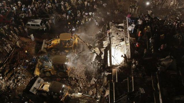 Dozens killed as Mumbai building collapses
