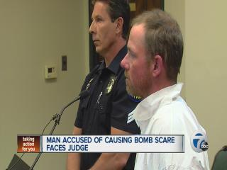 Man accused of causing bomb scare faces judge