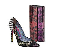 The Anouk pump and Sweetie clutch from the Rob Pruitt and Jimmy Choo collaboration