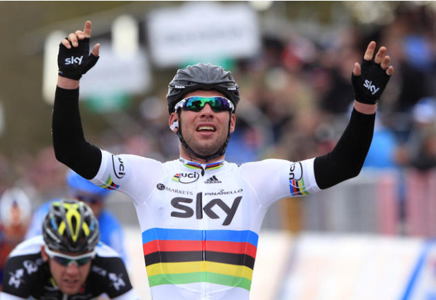 Britain's Mark Cavendish, Of Team Sky Procycling Celebrates AFP/Getty Images