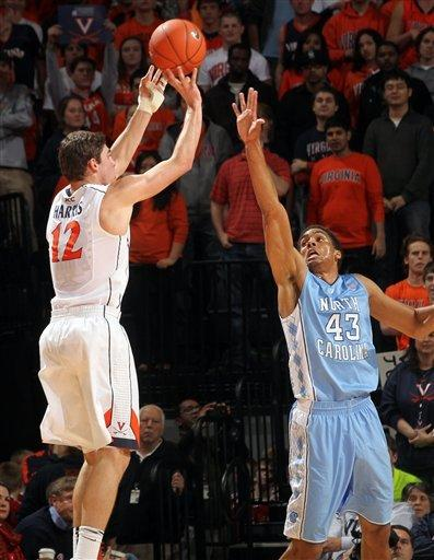 No. 7 North Carolina beats No. 25 Virginia 54-51